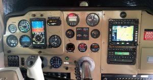 Instrument panel showing avionics upgrades.