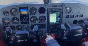 Cessna instrument panel upgrade with Garmin avionics.